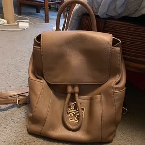 Tory Burch authentic backpack in tan